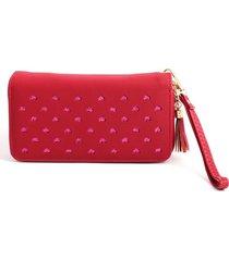 billetera unicolo mujer color rojo,talla uni
