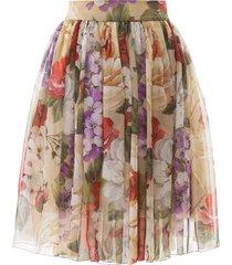 dolce & gabbana floral chiffon skirt