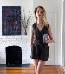 loft lou & grey signaturesoft plush crossover romper