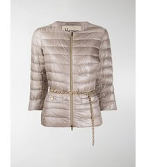 herno belted-waist quilted-down jacket