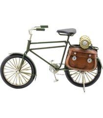enfeite decorativo minas de presentes bicicleta verde