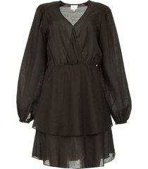jurk met ruches victorine  zwart