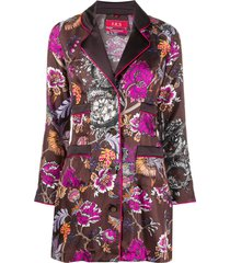 f.r.s for restless sleepers floral kimono shirt - brown