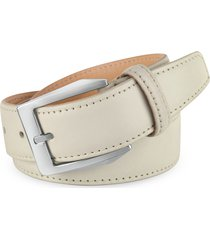 pakerson designer men's belts, men's white hand painted italian leather belt