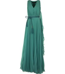 max mara aiello georgette sablé dress
