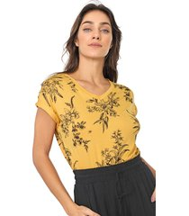 blusa lunender floral amarela/preta - kanui