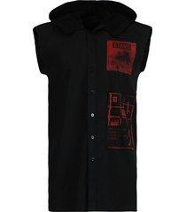 archive redux black sleeveless hoodie