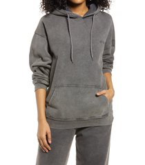 bdg urban outfitters longline hoodie, size x-small in charcoal at nordstrom