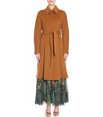 alberta ferretti wool and cashmere coat