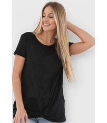 camiseta gap vintage maternity preta - preto - feminino - algodã£o - dafiti