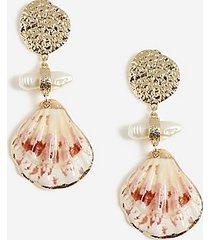 *shell drop earrings - cream