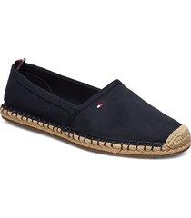 basbasic tommy flat espadrille sandaletter expadrilles låga blå tommy hilfiger