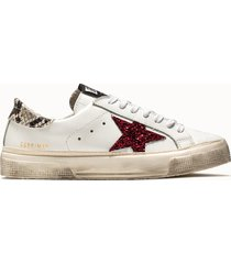 golden goose deluxe brand sneakers may colore bianco animalier