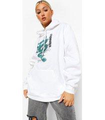 tall oversized draak hoodie, ecru