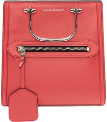 alexander mcqueen the short story crossbody bag - pink