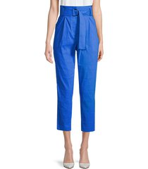 diego belted high-waist cropped pants