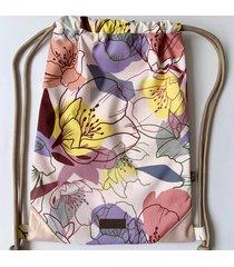 tula estampado flores jacpack gardenia sack jac
