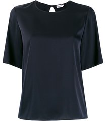 filippa k relaxed short-sleeve blouse - blue