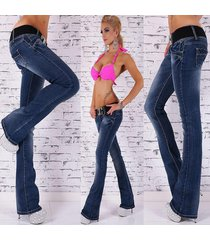 new sexy women's hipster jeans blue wash jeans bootcut without belt