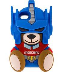moschino transformer teddy iphone 7 case - blue
