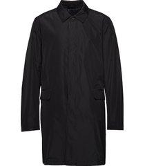 calton 2 dunne lange jas zwart tiger of sweden