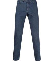 briglia 1949 denim cotton chino trousers