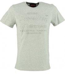 superdry stevig zacht grijs slim fit t-shirt valt 1 maat kleiner