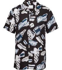einar sx aop 10527 overhemd met korte mouwen zwart samsøe & samsøe