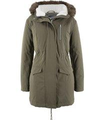 parka con cappuccio e pelliccia ecologica (verde) - bpc bonprix collection