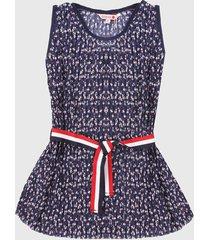 vestido azul-blanco-rojo boboli
