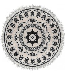 dywan okrągły z frędzlami boho