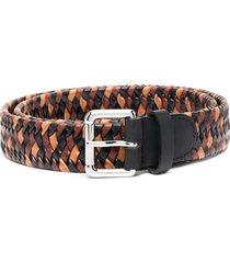 etro woven design belt - neutrals