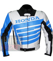 honda 9019 sky blue leather motorcycle motorbike stylish cowhide safety  jacket