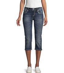 whiskered capri jeans