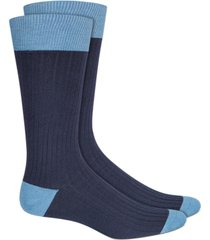 alfani men's textured colorblocked socks, created for macy's