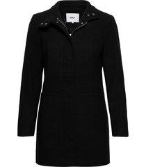onlchrisa life wool coat cc otw wollen jas lange jas zwart only