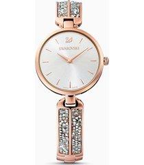 orologio dream rock, bracciale di metallo, tono argentato, pvd oro rosa