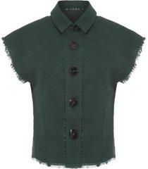 casaqueto cavado liso bianza - verde