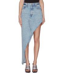 'runway' asymmetrical denim skirt