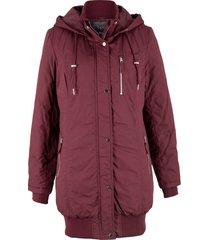 giacca lunga imbottita con cappuccio (rosso) - bpc bonprix collection