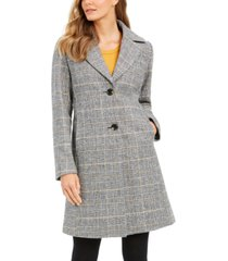 tahari plaid reefer coat