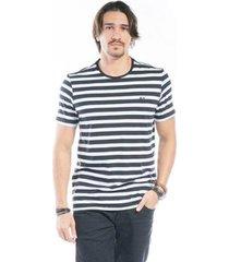 camiseta manga curta listrada tradicional masculina - masculino