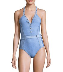 vintage denim swimsuit