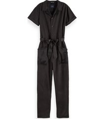 maison scotch jumpsuit 154507 zwart
