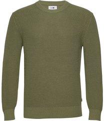 knut 6376 gebreide trui met ronde kraag groen nn07