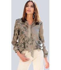 blouse alba moda zand::beige::zwart