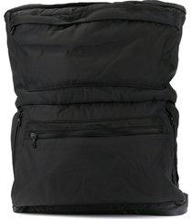 julius buckle-detail zipped backpack - black