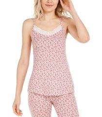 vera bradley capulet floral-print lace-trim cami pajama tank top