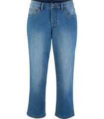 jeans 3/4 in poliestere riciclato sostenibile (blu) - bpc bonprix collection