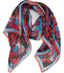 women's givenchy fire flower silk scarf, size one size - pink